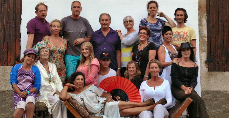 creatieve vakantie frankrijk groepsfoto