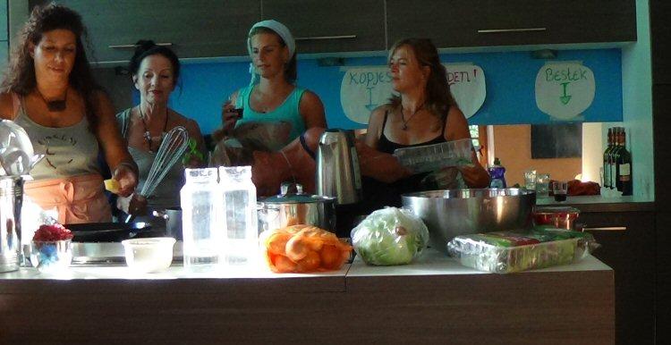 creatieve vakantie frankrijk in de keuken