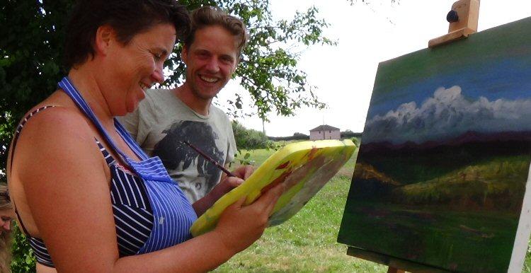 creatieve vakantie frankrijk schilderen 2