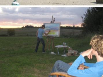 creatieve-vakantie-frankrijk-matthieu-schildert-bij-zonsondergang-3