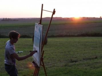 creatieve-vakantie-frankrijk-schilderen-bij-zonsondergang-matthieu-staelens-3
