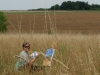 creatieve-vakantie-frankrijk-afke-schildert-in-het-veld-2