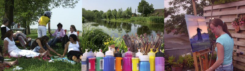 Creatieve vakantie Frankrijk schilderen