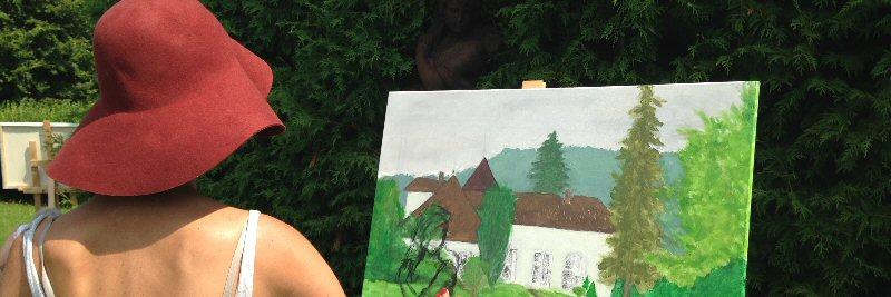 creatieve vakantie frankrijk schildervakantie schilderen schilderles 1