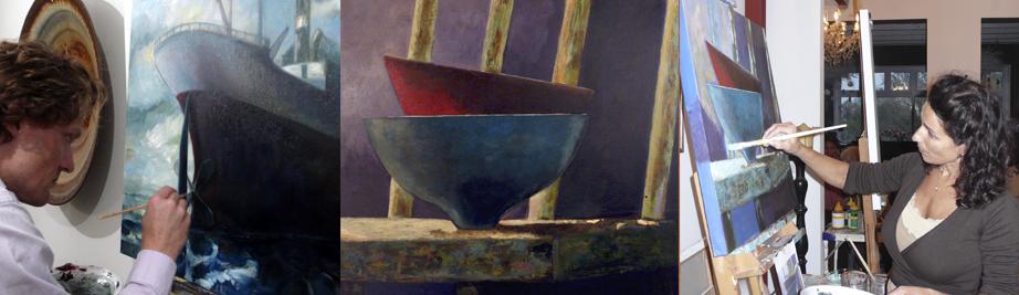 creatieve vakantie frankrijk schildervakantie schilderen schilderles 10