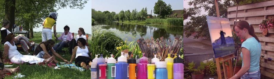 creatieve vakantie frankrijk schildervakantie schilderen schilderles 11