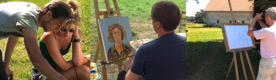 creatieve vakantie frankrijk schildervakantie schilderen schilderles 16