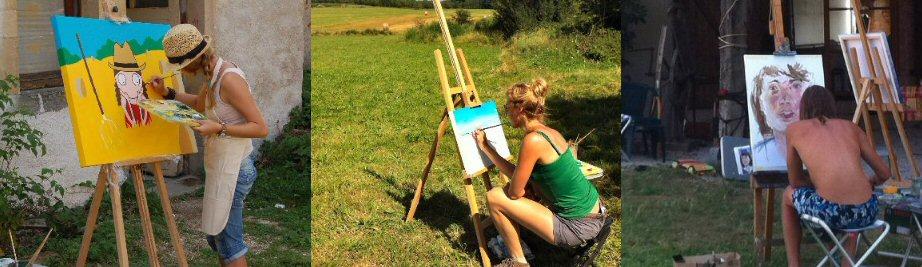 creatieve vakantie frankrijk schildervakantie schilderen schilderles 17