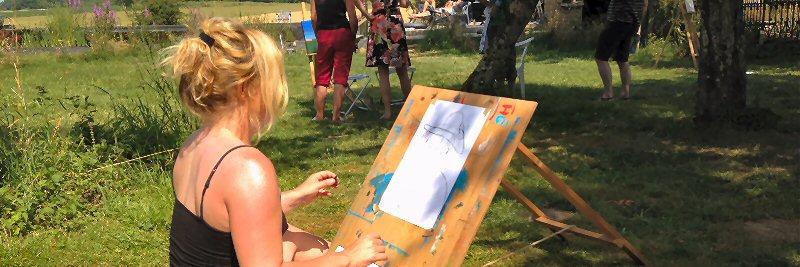 creatieve vakantie frankrijk schildervakantie schilderen schilderles 5