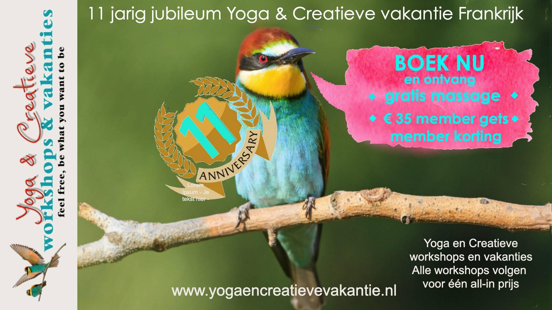 yoga en creatieve vakantie