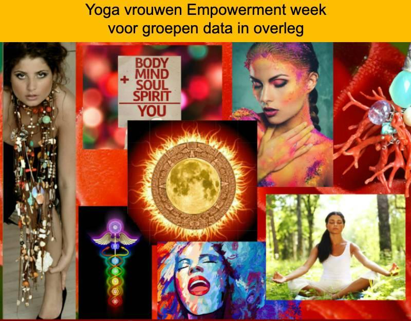 yoga week vrouwen empowerment week