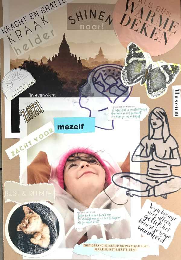 moodboard creatieve meditatie ontspanningsweek